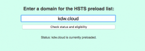 KDW Cloud HSTS preload